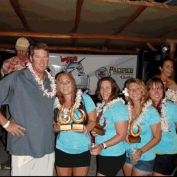1st place tag and release 2014 Wahine tournament